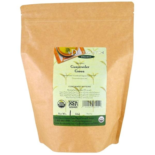 Davidson's Tea, Organic, Gunpowder Green Tea, 1 lb (Discontinued Item)