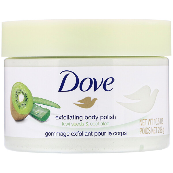 Dove, Exfoliating Body Polish, Kiwi Seeds & Cool Aloe, 10.5 oz (298 g)