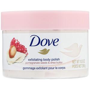 Dove, Exfoliating Body Polish, Pomegranate Seeds & Shea Butter, 10.5 oz (298 g) отзывы покупателей
