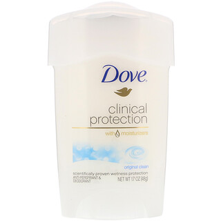 Dove, 医学防护,专业强度,止汗体香剂,纯粹清洁,1.7 盎司(48 克)