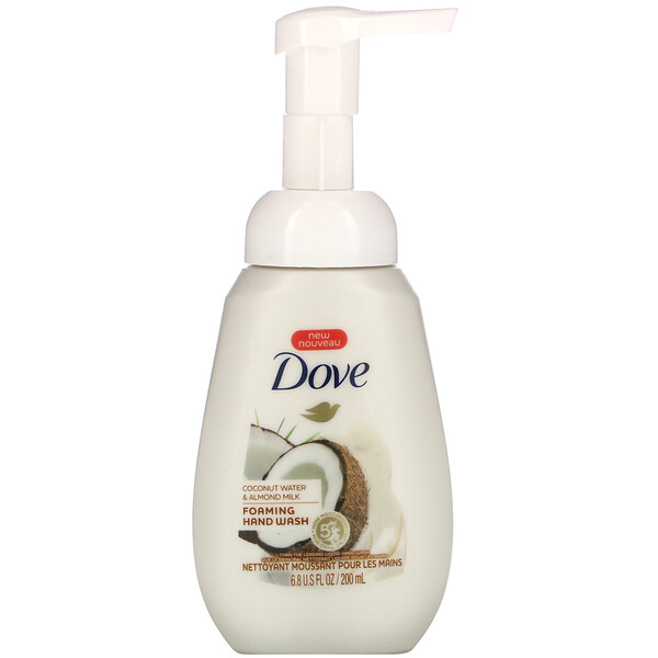 Dove, Foaming Hand Wash, Coconut Water & Almond Milk, 6.8 fl oz (200 ml)