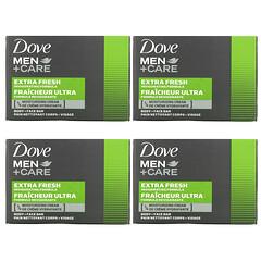 Dove, Men+Care 清涼倍爽男性沐浴潔面皂,4 塊,3.75 盎司(106 克)/塊