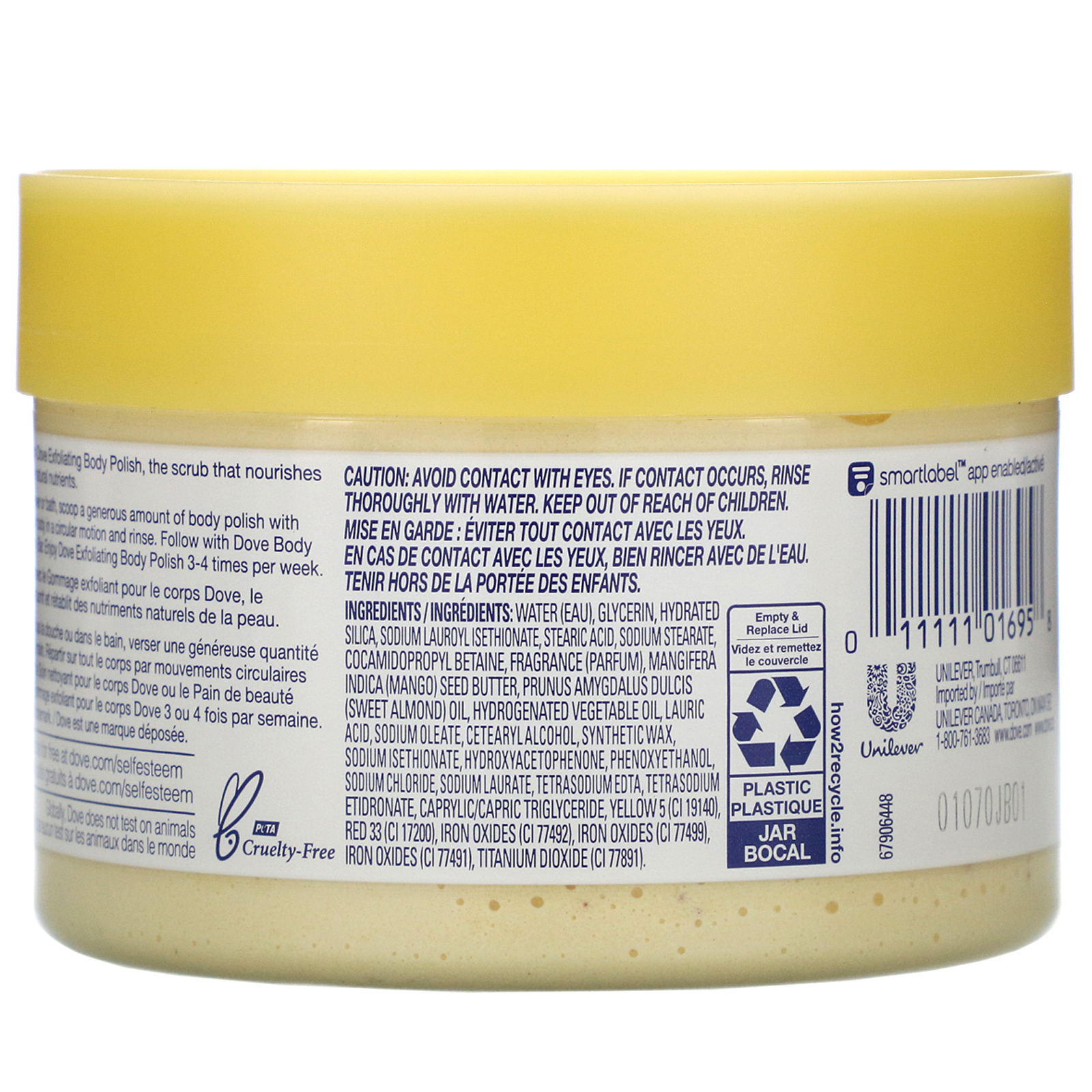 Dove Exfoliating Body Polish Crushed Almond And Mango Butter 10 5 Oz 298 G Iherb
