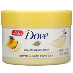 Dove, 去角質身體磨砂,壓碎的杏仁和芒果油味,10.5 盎司(298 克)
