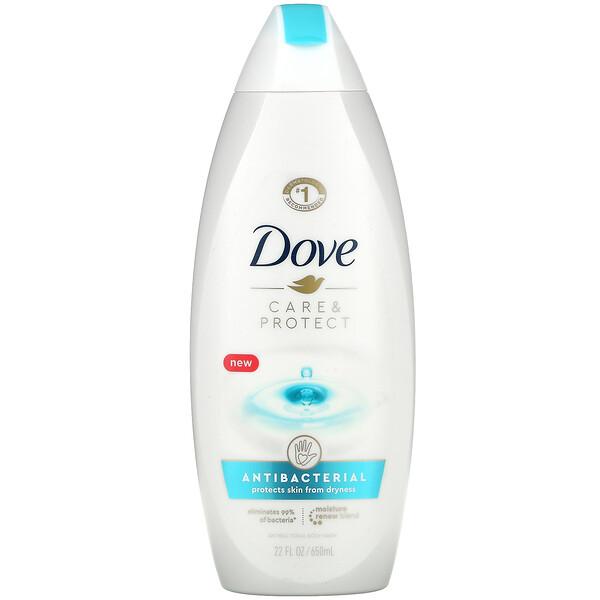 Dove, Care & Protect, Antibacterial Body Wash, 22 fl oz (650 ml)