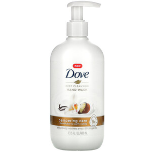 Dove, Deep Cleansing Hand Wash, Shea Butter & Warm Vanilla, 13.5 fl oz (400 ml)