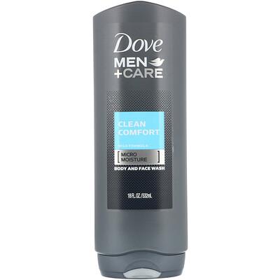 Купить Dove Гель для лица и тела Men+Care, аромат «Чистый комфорт», 532мл