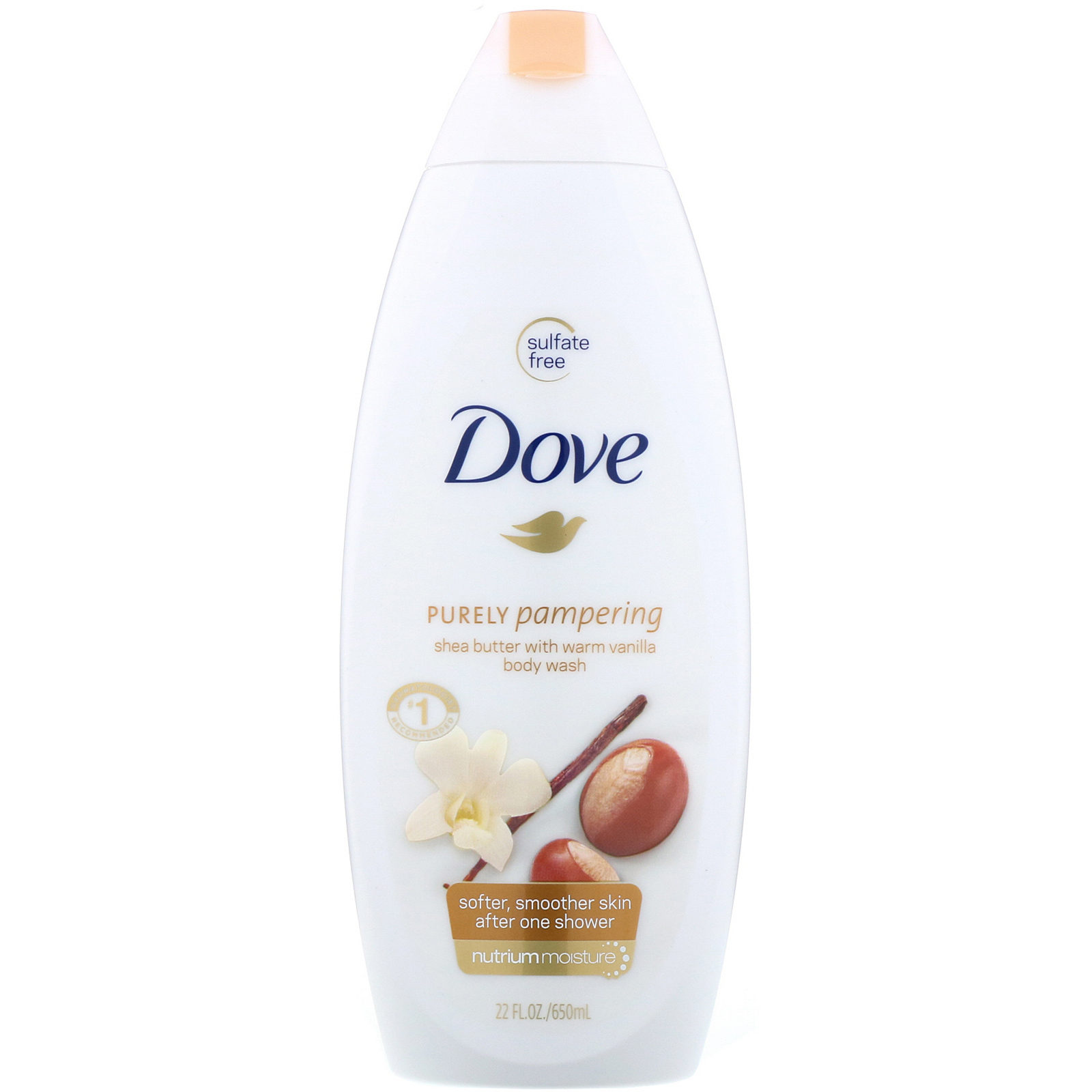 Dove Purely Pampering Body Wash Shea Butter With Warm Vanilla 22 Fl Oz 650 Ml Iherb