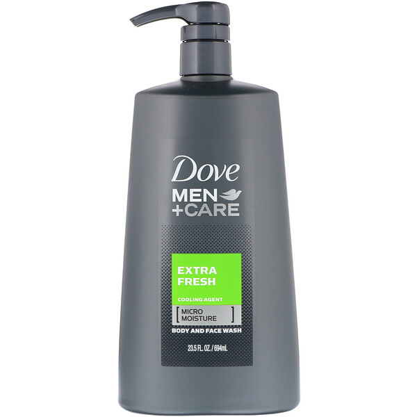 Dove, Men+Care 清凉倍爽男士沐浴洁面乳,23.5 液量盎司(694 毫升)