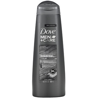Dove, Men + Care, Shampoo, Purifying, Charcoal + Clay, 12 fl oz (355 ml)