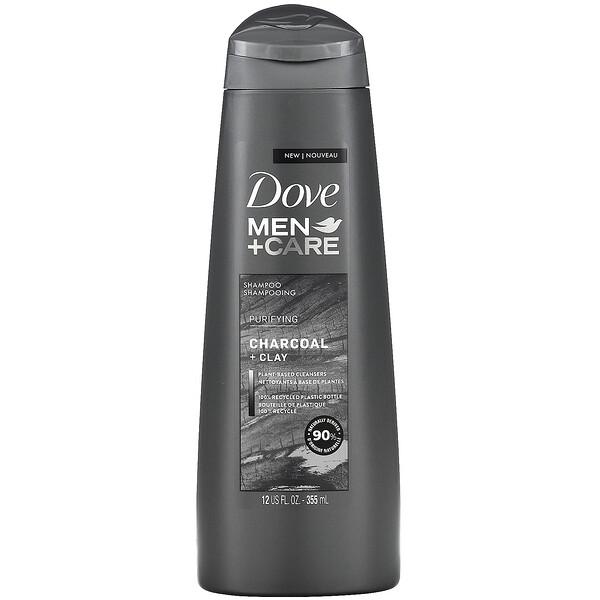 Men+Care, Shampoo, Purifying, Charcoal + Clay, 12 fl oz (355 ml)