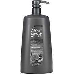 Dove, Men+Care,洗發水,淨化,木炭 + 粘土,25.4 液量盎司(750 毫升)