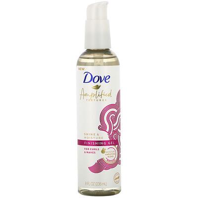 Dove Amplified Textures, Shine & Moisture, Finishing Gel, 8 fl oz (236 ml)  - купить со скидкой