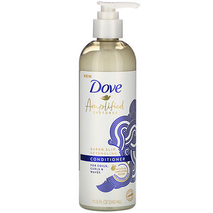 Dove, Amplified Textures, Super Slip Detangling Conditioner, 11.5 fl oz (340 ml)