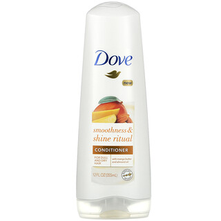 Dove, Smoothness & Shine Ritual Conditioner, For Dull and Dry Hair, Mango Butter And Almond Oil, 12 fl oz (355 ml)