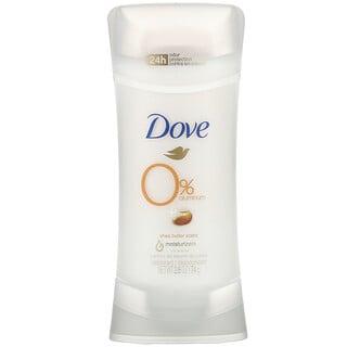 Dove, 0% Aluminum Deodorant, Shea Butter, 2.6 oz (74 g)