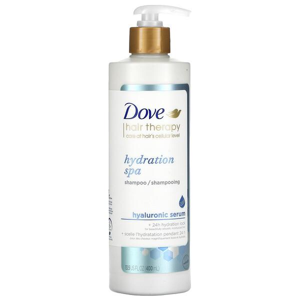 Dove, Hair Therapy, Hydration Spa Shampoo, Hyaluronic Serum, 13.5 fl oz (400 ml)