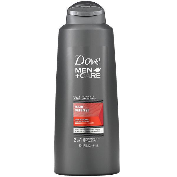 Dove, Men+Care, 2-In-1 Shampoo + Conditioner, Hair Defense, 20.4 fl oz (603 ml)