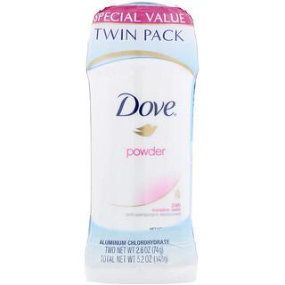 Dove, 인비저블 솔리드 디오도런트, 분말형, 2개입, 각 74g(2.6oz)