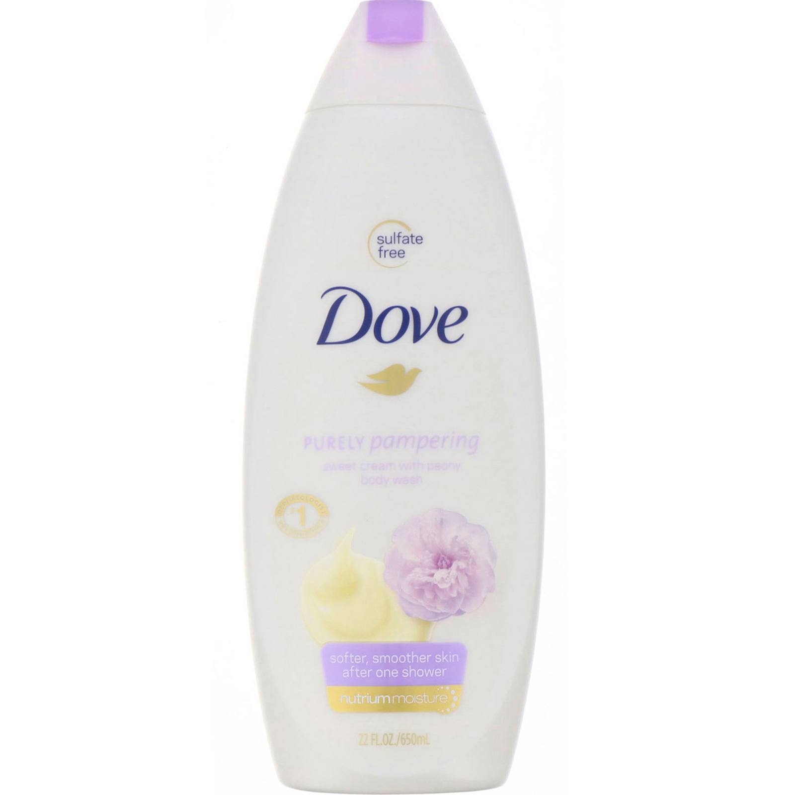 Dove Purely Pampering Body Wash Sweet Cream With Peony 22 Fl Oz 650 Ml Iherb