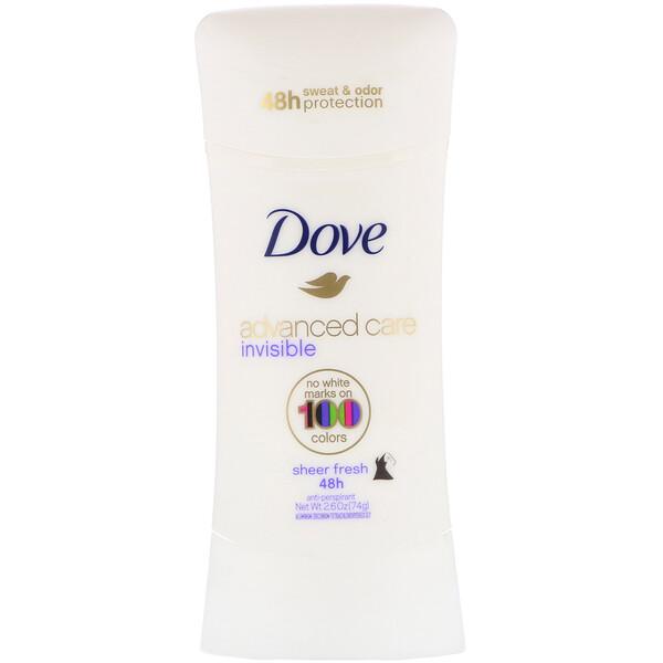 Advanced Care, Invisible, Anti-Perspirant Deodorant, Sheer Fresh, 2.6 oz (74 g)