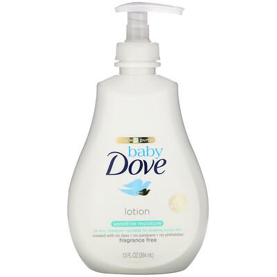 Купить Dove Baby, увлажняющий лосьон для чувствительной кожи, без запаха, 384мл