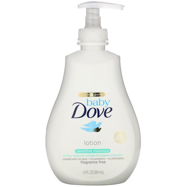 Baby, Sensitive Moisture Lotion, Fragrance Free, 13 fl oz (384 ml)