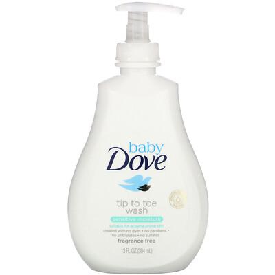 Купить Dove Увлажняющее средство для купания Baby, Tip to Toe Wash, для чувствительной кожи, 384мл