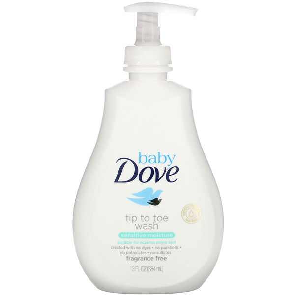 Baby, Tip to Toe Wash, Sensitive Moisture, 13 fl oz (384 ml)