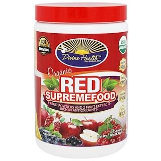 """Divine Health, """"Красный сверхпродукт"""", органическая смесь из фруктовых порошков и экстрактов, 6,30 унции (180 г)"""