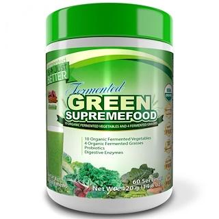 Divine Health, Fermented Green Supremefood, Apple - Cinnamon, 14.8 oz (420 g)