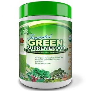 Дивайн Хэлс, Fermented Green Supremefood, Apple — Cinnamon, 14.8 oz (420 g) отзывы