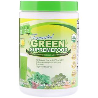 Divine Health, Organic Fermented Green Supremefood, Lemon-Lime, 7.40 oz (210 g)