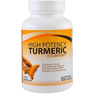 Divine Health, High Potency Turmeric Plus Bioperine , 60 Veggie Caps