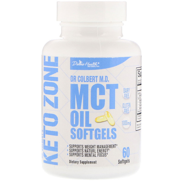 Divine Health, Dr. Colbert's Keto Zone, MCT Oil, 60 Softgels
