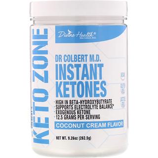 Divine Health, Dr. Colbert's Keto Zone, Instant Ketones, Coconut Cream Flavor, 9.26 oz (265.5 g)