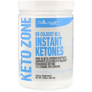 Divine Health, Кето-зона д-ра Кольберта, мгновенные кетоны, вкус кокосовых сливок, 265,5 г