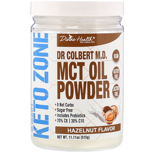 Дивайн Хэлс, Dr. Colbert's Keto Zone, MCT Oil Powder, Hazelnut , 11.11 oz (315 g) отзывы покупателей