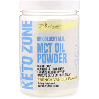 Divine Health, Keto Zone do Dr. Colbert, Óleo MCT em Pó, Baunilha Francesa, 11,11 oz (315 g)