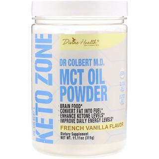 Divine Health, Dr. Colbert's Keto Zone, aceite de TCM en polvo, vainilla francesa, 11.11 oz (315 g)