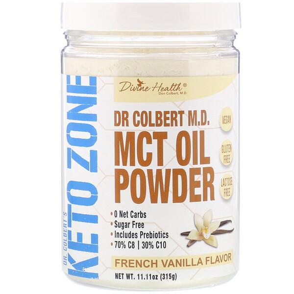Dr. Colbert's Keto Zone, MCT Oil Powder, French Vanilla, 11.11 oz (315 g)