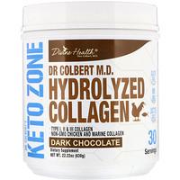 Dr. Colbert's Keto Zone, Hydrolyzed Collagen, Dark Chocolate, 22.22 oz (630 g) - фото
