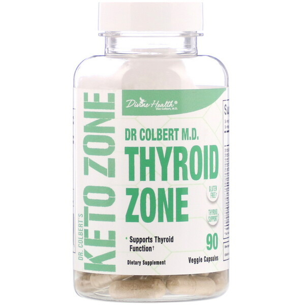 Dr. Colbert's Keto Zone, Thyroid Zone, 90 Veggie Capsules
