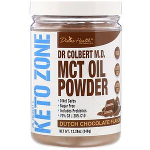 Дивайн Хэлс, Dr Colbert's Keto Zone, MCT Oil Powder, Dutch Chocolate , 12.28 oz (348 g) отзывы