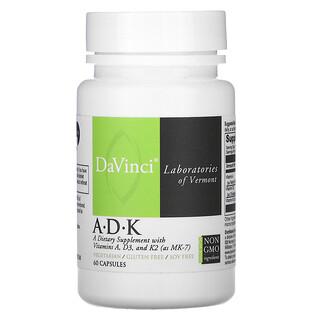 DaVinci Laboratories of Vermont, A•D•K, 60 Cápsulas