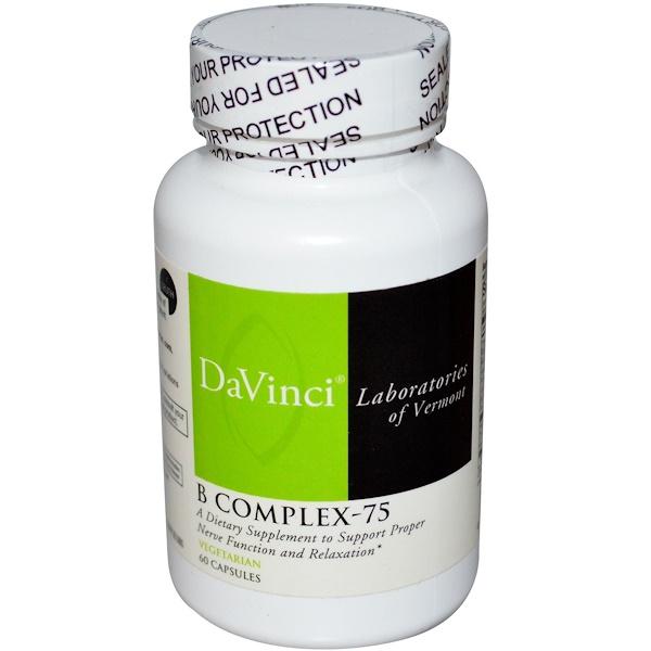 DaVinci Laboratories of Vermont, B Complex-75, 60 Capsules (Discontinued Item)