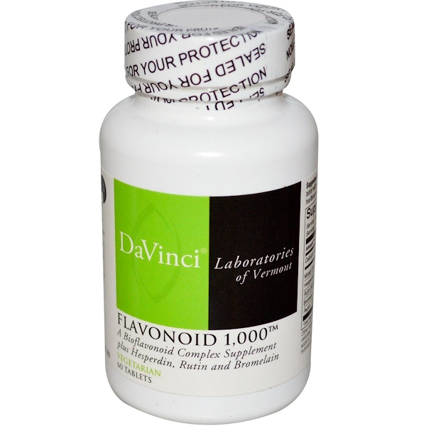 DaVinci Laboratories of Vermont, Flavonoid 1,000, 60 Tablets (Discontinued Item)