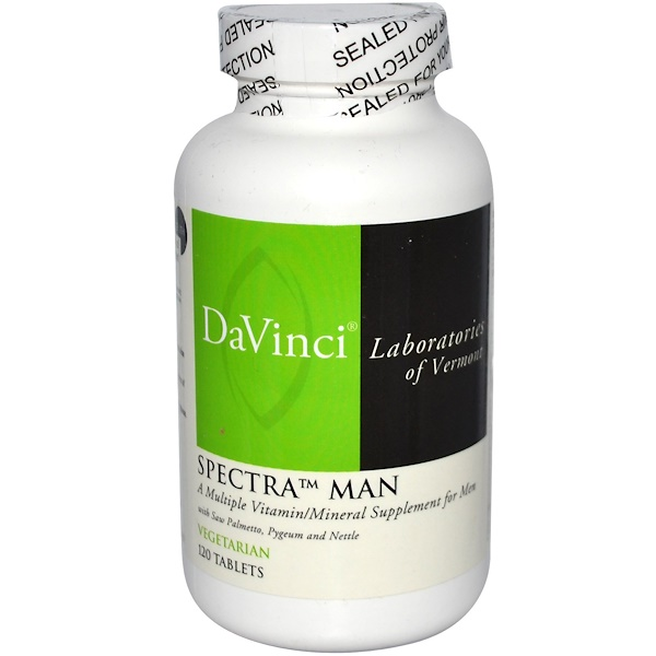 DaVinci Laboratories of Vermont, Spectra Man, Multiple Vitamin/Mineral, 120 Tablets (Discontinued Item)