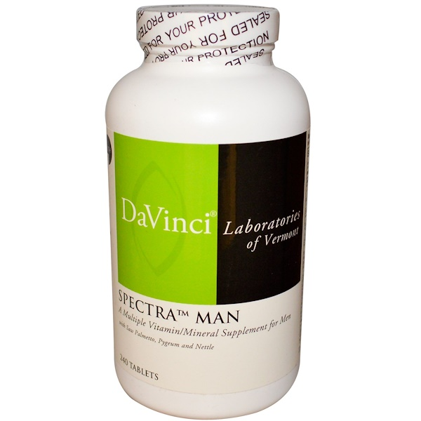 DaVinci Laboratories of Vermont, Spectra Man, Multiple Vitamin/Mineral, 240 Tablets (Discontinued Item)