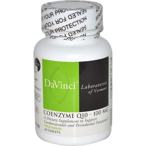 DaVinci Laboratories of Vermont, Coenzyme Q-10, 100 mg, 60 Tablets (Discontinued Item)